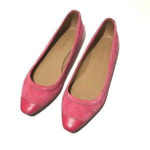 Talbots Pink Leather Suede Flats Sz 9